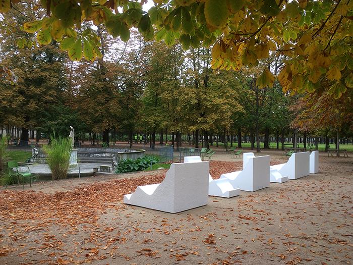 Elvire bonduelle moulures for Fiac 2015 jardin des tuileries