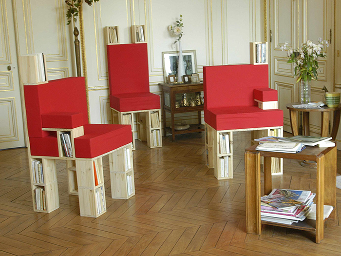 Paperback armchairs